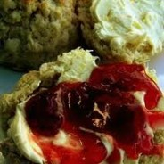 English Scone with Cream, Jam and Butter
