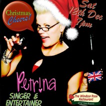 Christmas Cheers with Petrina! December 12, 2015–An Explosive Holiday Evening With Petrina, The British Bombshell!
